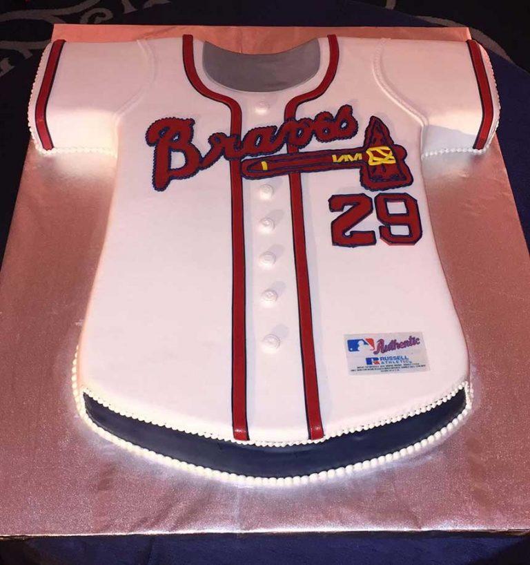 Atlanta Braves Jersey Cake - Richmond VA- Sugar and Salt Richmond VA