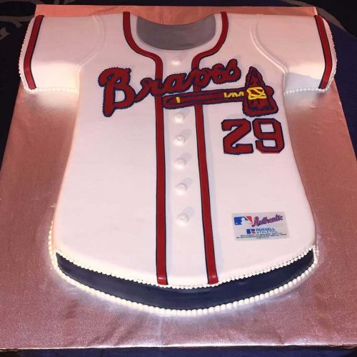 Atlanta Braves Jersey Cake - Richmond VA- Sugar and Salt Richmond VA