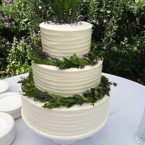 Plant Accented Wedding Cake - Sugar and Salt Richmond VA