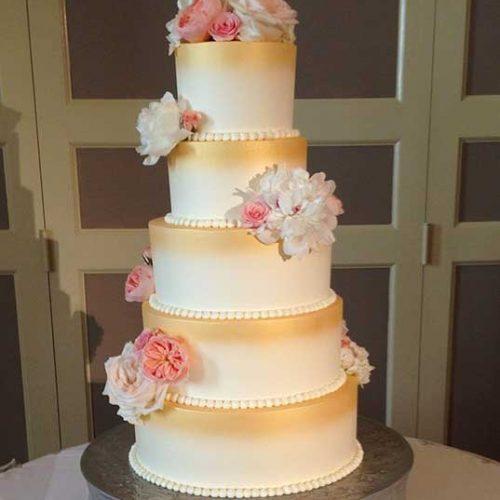 Wedding Cake with Flowers - Sugar and Salt Richmond VA
